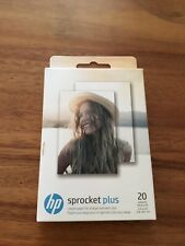 HP Sprocket Plus Instant Photo Printer, (2.3 x 3.4 in) 20 Sticky Backed Sheets