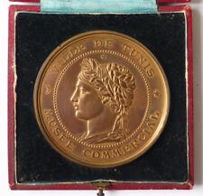 Médaille en bronze VILLE DE TUNIS MUSÉE COMMERCIAL PROTECTORAT Tunisie medal