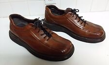 Michael Shannon Brown Leather Shoes Size 12 Italy Mens Oxford Laces