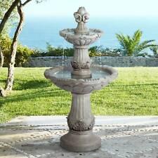"""Italian Outdoor Floor Water Fountain 51"""" 3 Tiered Yard Garden Patio Deck Home"""