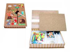 Children's Forest Friends Wooden Tap a Shape Tangram Toy Set! Hammer & Nails!