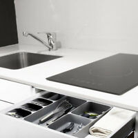 Home Kitchen Plastic Fork Spoons Knives Storage Box Drawer Tray Organizer Holder