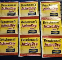 3 Strips Fleischmann Active Dry Yeast Original 9 Packets *SHIP  TODAY* EXP 01/22