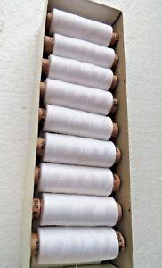 100 x Nähgarn 200 meter stärke 70/2 Nähfaden aus Polyester krumpffrei Häkelgarn