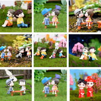 Miniature Lover Couple Figurines Craft Fairy Garden Bonsai Wedding Decor Gift