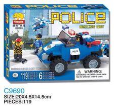 Woma Polizei 4WD Geländewagen und Helikopter C09690