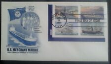 First day of issue, 2011 Honoring U.S. Merchant Marine, Se-tenant # 4548-51