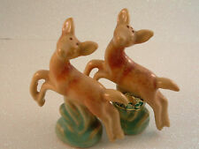 North Dakota Rosemeade Pottery Prancing Fawns S&P Set