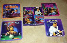 Camel Joe's Lounge Boxed Set of 4 Cork Coasters - The Hard Pack New Unused