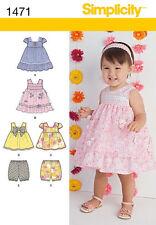 SEWING PATTERN! MAKE DRESS~TOP~BLOOMERS! BABY GIRL! SIZES PREEMIE~24 LBS SUMMER!