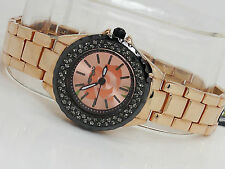 NEW ED HARDY 1117-RG ROYALE ROSE GOLD STEEL WOMENS WATCH CRYSTALS