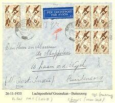 NEDERLAND 1935-11-26 GROENEKAN-BUITENZORG -PL.FOUT PM 1 (€ 220) Z. FRAAI