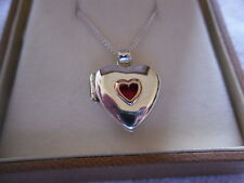 Clogau Silver & 9ct Rose Gold Childs Heart Locket with 40cm Chain RRP £229.00