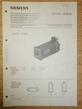 Siemens 1Ft5 02.-1Ft5 04. Servo Motor Operating Manual