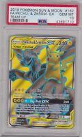 Pokemon Card : PSA 10 Gem Mint PIKACHU & ZEKROM GX 162/181 Ultra Rare Team Up