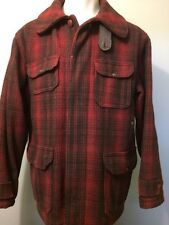 Vtg Woolrich Hunting Jacket 1950s Mens Plaid Wool Coat 42 Mackinaw USA Cruiser L