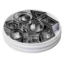 24 x Cutter Affettatrice in acciaio inox forme geometriche Mini Cucina STAMPI COOKIE
