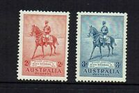 AUSTRALIA PRE-DECIMAL...1935 SILVER JUBILEE 2d & 3d....MINT HINGED