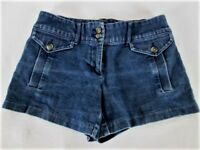 NEW YORK & COMPANY womens Sz 2 W28 BLUE DENIM DARK WASH STRETCH SHORTS  (L)