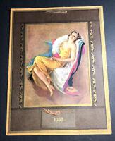 Pin Up Calendar 1938 Full Pad Artist Erbit Happy Memories