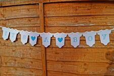 IT'S A BOY BODYSUIT BABY SHOWER BUNTING GARLAND BANNER CHRISTENING DECORATION