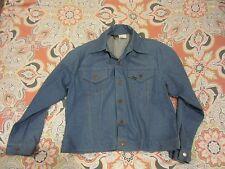 Vintage 70s Denim Trucker Jacket 1970s Sears Western Wear Vintage Wash Jean jack