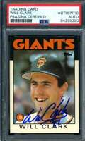 Will Clark Signed PSA DNA Coa 1986 Topps Traded Rookie Autograph