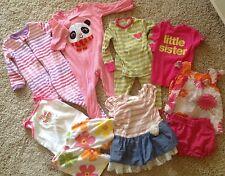 Huge Lot Girls Carter's The Children's Place Summer Outfits Set 12 months (kklu)