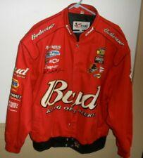 Chase XLG Bud Dale Earnhardt Jr NASCAR Brush Corduroy Racing Jacket BUDWEIZER