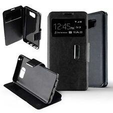Coque Housse Etui Samsung Galaxy Note 5 Folio fenêtre  View - Noir