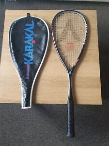 Raw Graphite 130 Karakal Squash Racquet with case