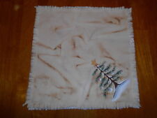 """SNOWMAN TREE Primitive Handpainted Candle Mat 10"""" square * Free Ship"""