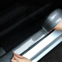 Car Carbon Fiber Rubber Edge Guard Strip Door Sill Protector Accessories 3CMx1M