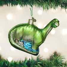 Brontosaurus Dinosaur glass Ornament Old World Christmas New In Box