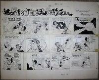 "Li'l Abner SUNDAY STRIP ORIGINAL ART Al Capp 1967 Mammy Yokum Comic HUGE 29""x23"""