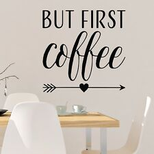 "Coffee Kitchen with Coffee Beans 12/""x13/"" Vinyl Wall Decal Sticker"