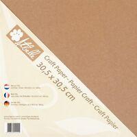 Kraft Paper Cardstock Tonkarton Bastelkarton 30,5cm 300g/m² 20 Stück 774