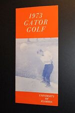 University of Florida Golf Guide 1973 featuring Andy Bean