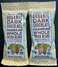 Trader Joe's ORGANIC Dark Chocolate Covered Whole Cocoa Beans ~ 1, 2, or 3 Bags!