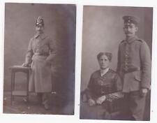 Foto AK Soldat mit Tschako und Frau