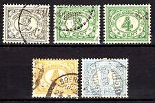 Dutch Indies - 1928 Definitives numeral - Mi. 156-60 VFU