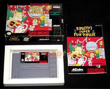 KRUSTY'S SUPER FUN HOUSE Super Nintendo Snes Versione NTSC Americana ○○ COMPLETO