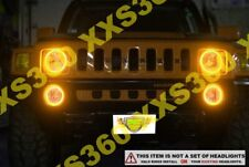 ORACLE Hummer H2 03-10 AMBER Surface Mount LED Headlight Halos Waterproof