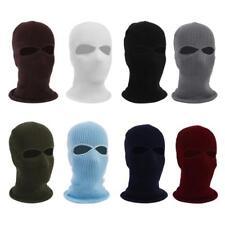 2 Hole Full Face Ski Mask Winter Cap Balaclava Hood Beanie Tactical Hat NEW