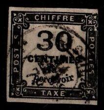 TIMBRE TAXE 30c noir ND, Oblitéré = Cote 160 € / Lot Timbre France Taxe n°6