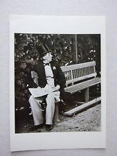 Hans Christian Anderson, 1867 B&W Photo by Israel B Melchior