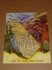 Moody Blues/Nicky James Band 1970 Tour Programme