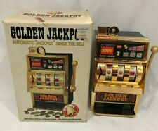 "WACO GOLDEN JACKPOT RINGS THE BELL BAR SLOT MACHINE JAPAN WIN 10.5"" Toy WORKS"
