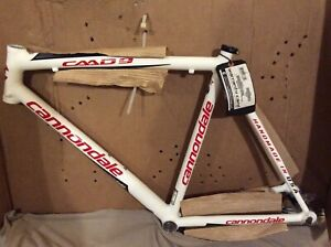 Cannondale CAAD9 56 cm  Road Bike Frame -Made in USA White/Red -Collector Item
