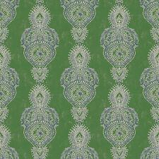 g67383 - INDO chic à motif bleu vert blanc Galerie Papier peint